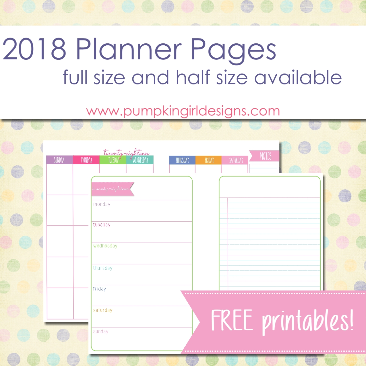image relating to Blank Planner named 2018 Blank Planner Internet pages Pumpkingirl Styles